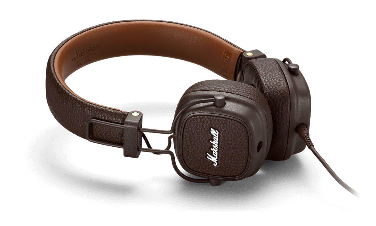Dźwięk w słuchawkach Marshall Major III brązowe