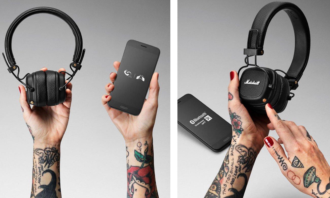 Słuchawki Bluetooth Marshall Major III czarne