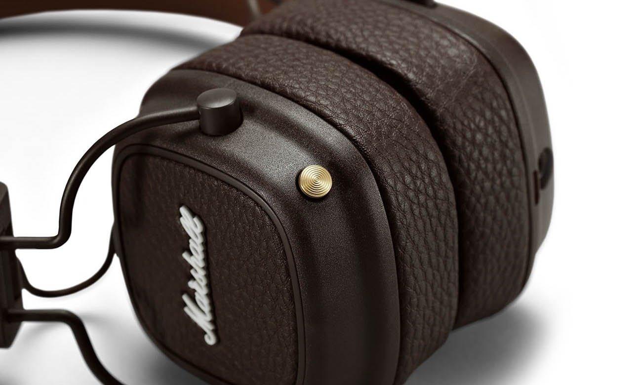 Słuchawki Bluetooth Marshall Major III brązowe