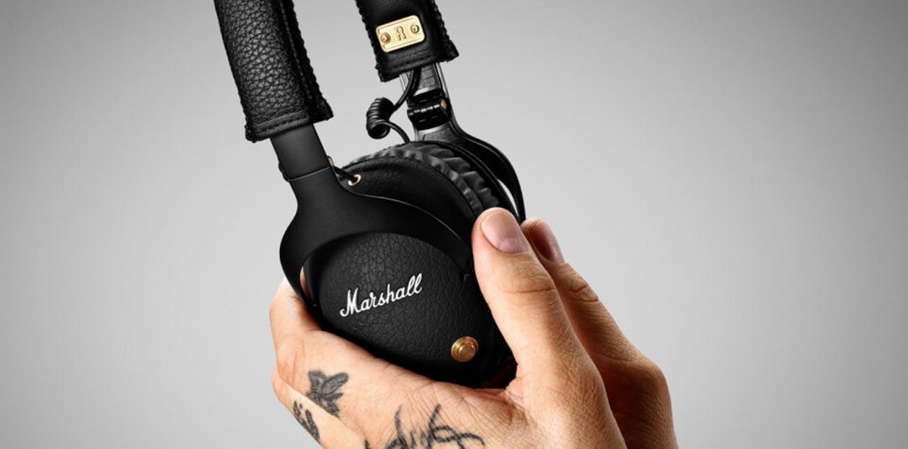 doskonały dźwięk w słuchawkach Marshall Monitor Bluetooth czarne