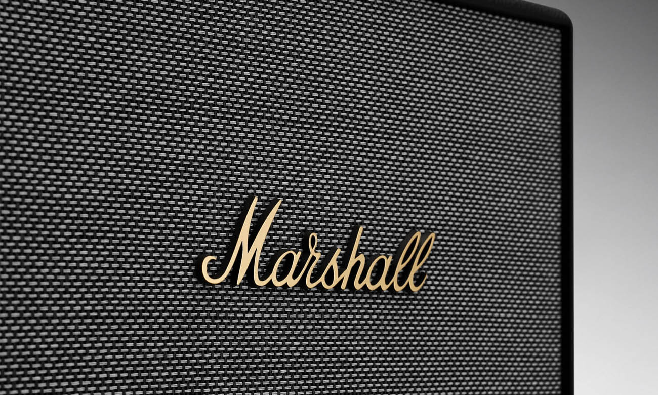 Klasyczny design głośnika Marshall Woburn II Black