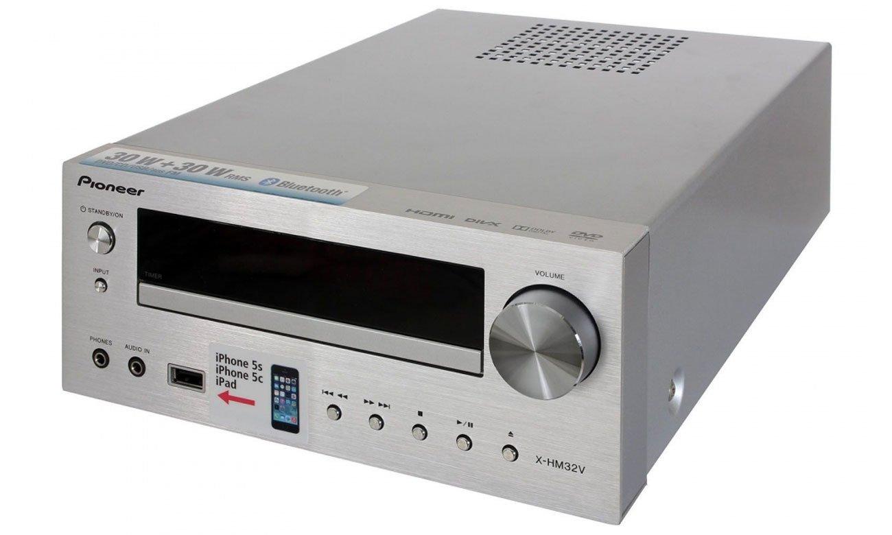 Miniwieża Pioneer X-HM32V-K z regulacją dźwięku