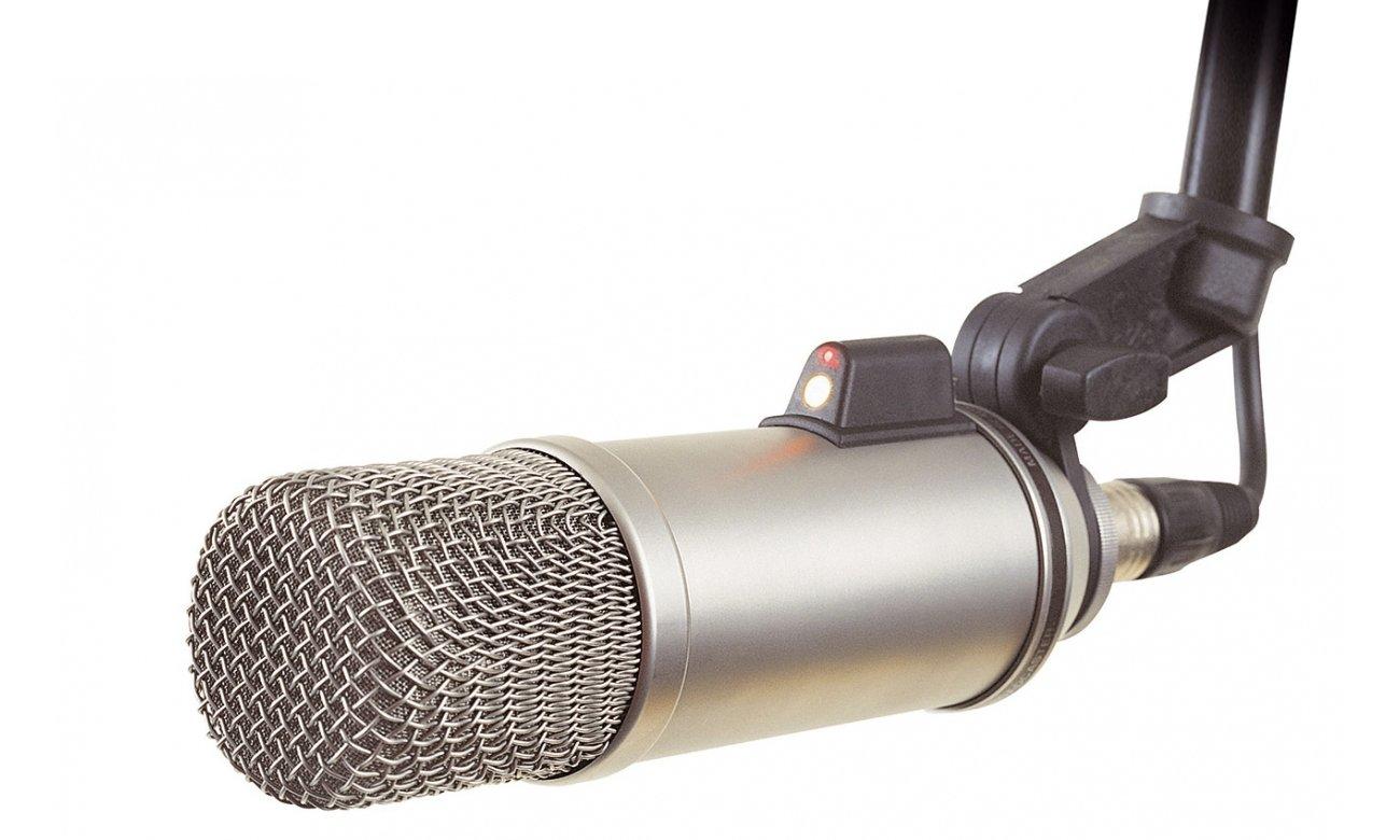 Regulacja mikrofonu Rode Broadcaster
