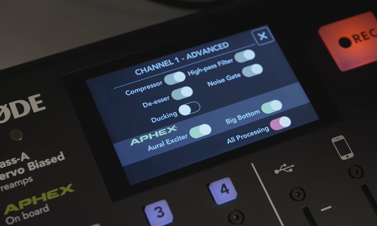 APHEX® - profesjonalne, typowo radiowe brzmienie w Rode Caster Pro