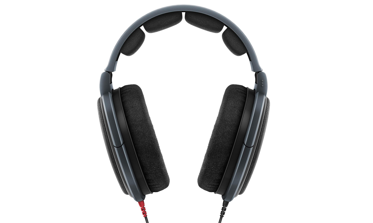 Wygodne słuchawki Sennheiser HD 600 z odpinanym przewodem