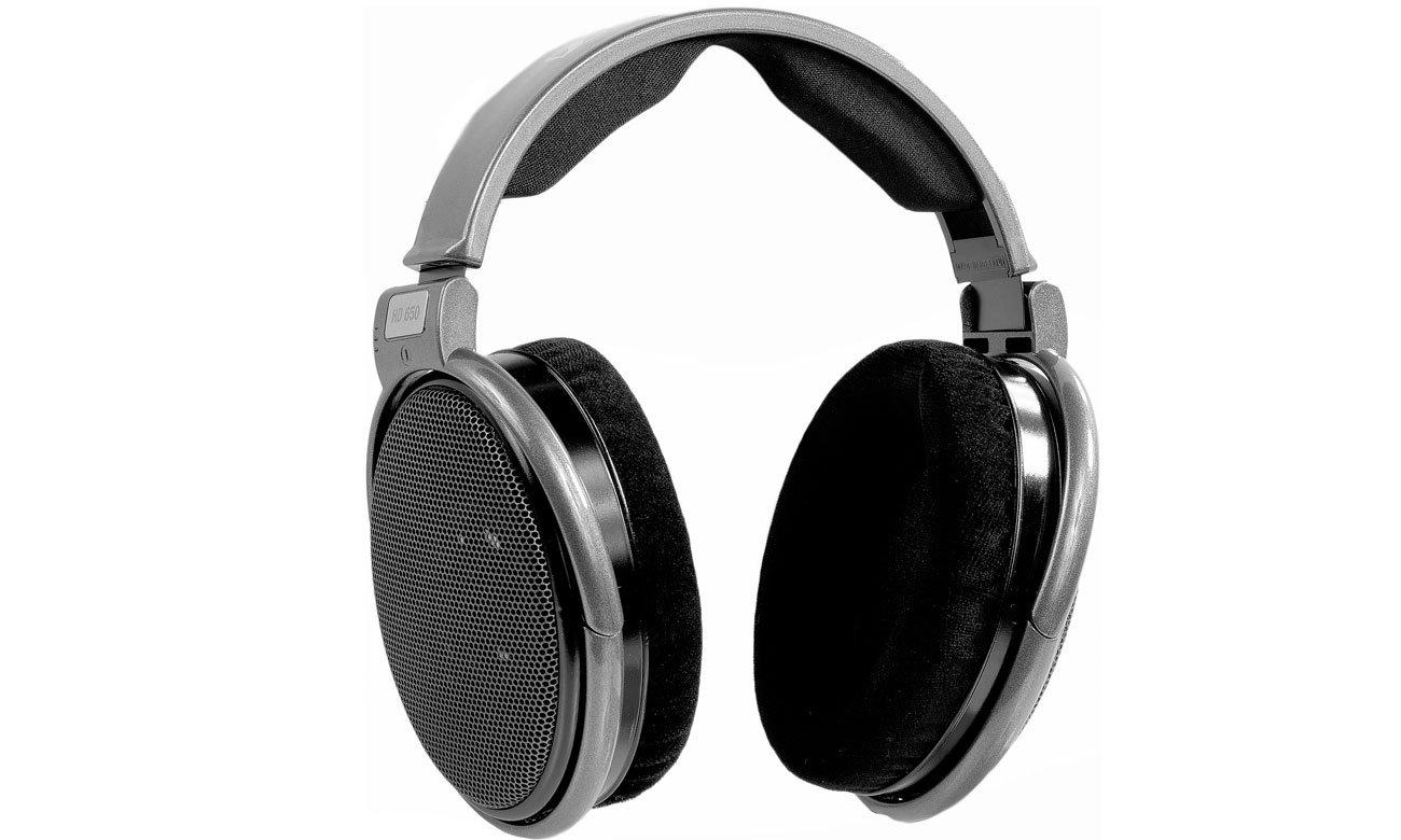 Wygodne słuchawki Sennheiser HD 650 z odpinanym przewodem