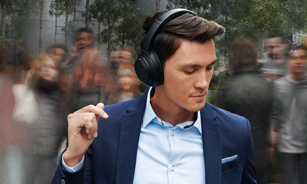 Słuchawki bezprzewodowe z systemem redukcji hałasu Sony WH-1000XM3 czarne