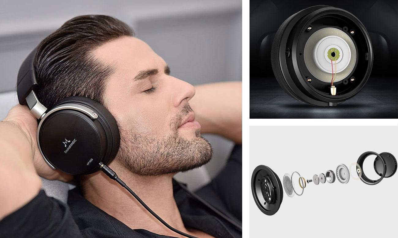 Brzmienie słuchawek audiofilskich SoundMagic HP1000