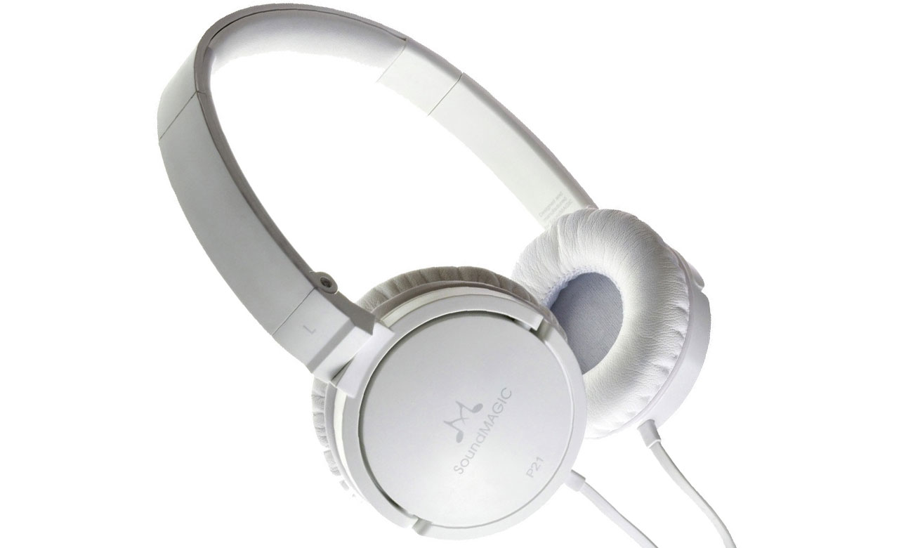 Słuchawki nauszne, przewodowe SoundMagic P21 białe
