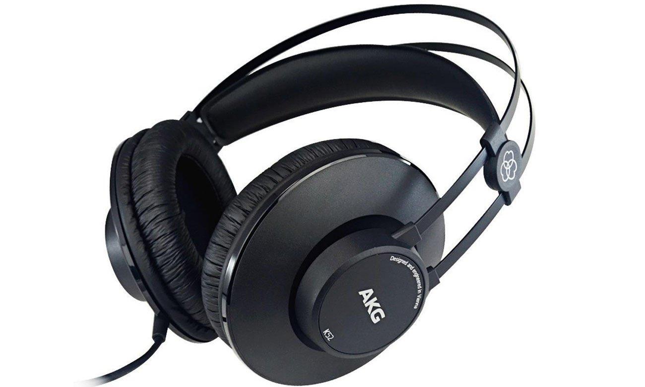 Wygodne słuchawki przewodowe AKG K52