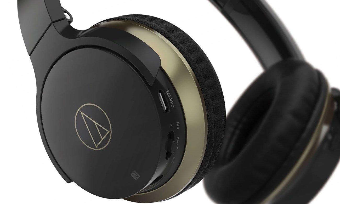Mocna bateria i mikrofon w słuchawkach bezprzewodowych ATH-AR3BT Audio-Technica
