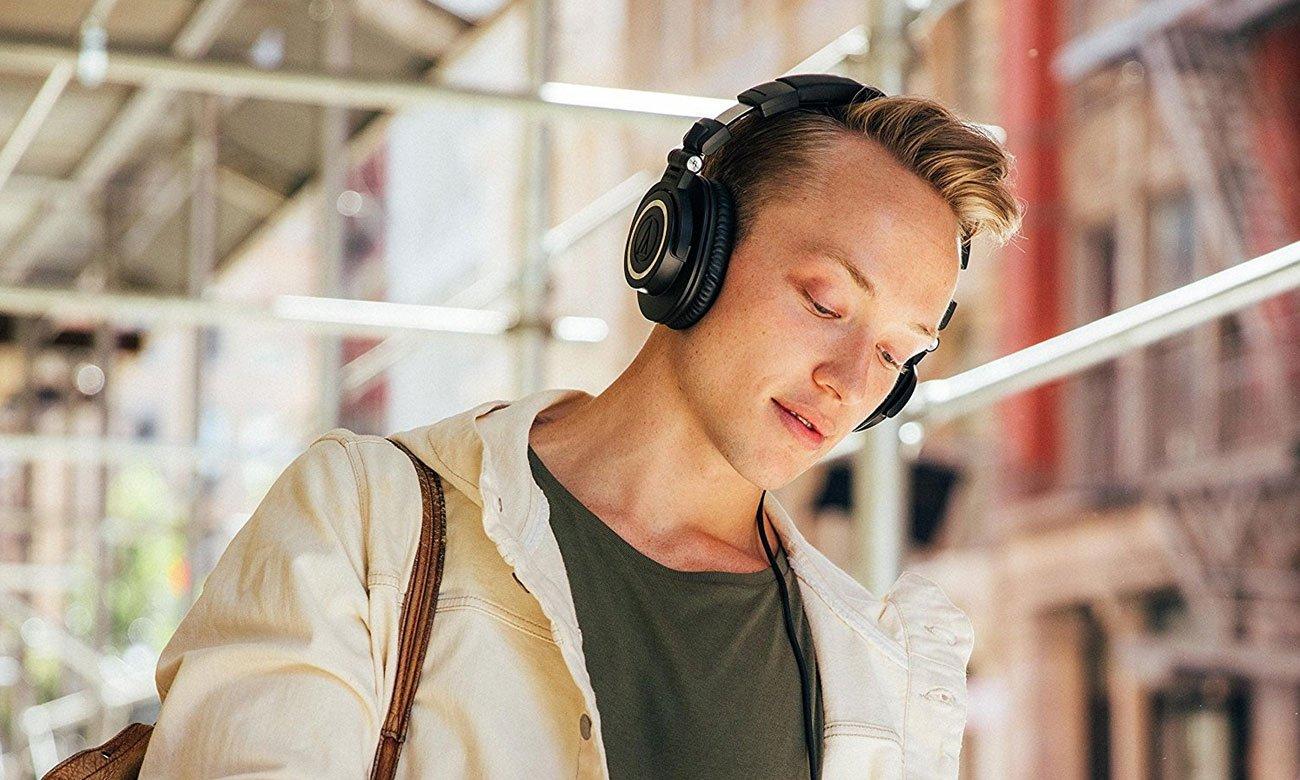 Studyjne słuchawki Audio-Technica ATH-M50X dla DJ