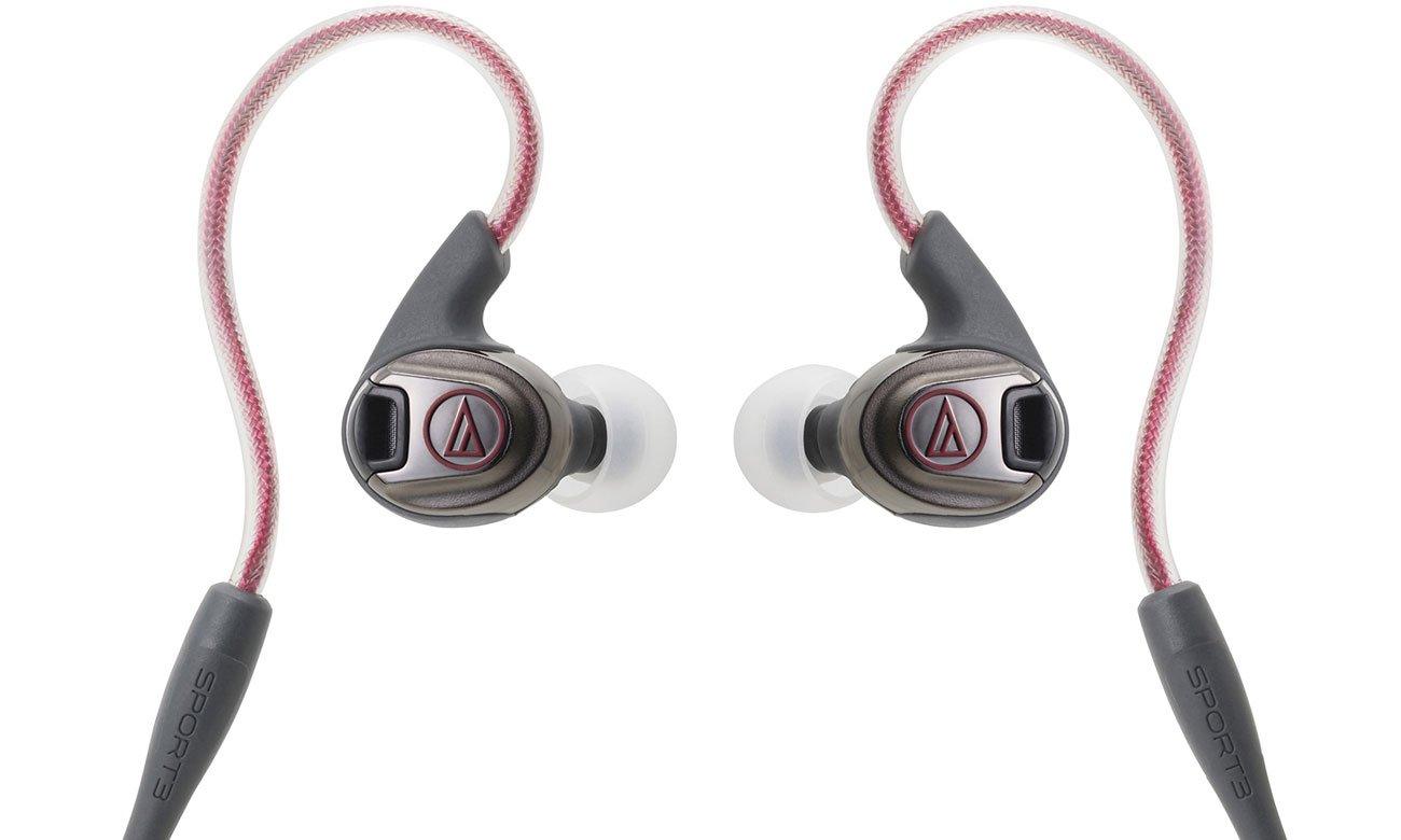 Słuchawki dokanałowe Audio-Technica ATH-SPORT3 czerwone
