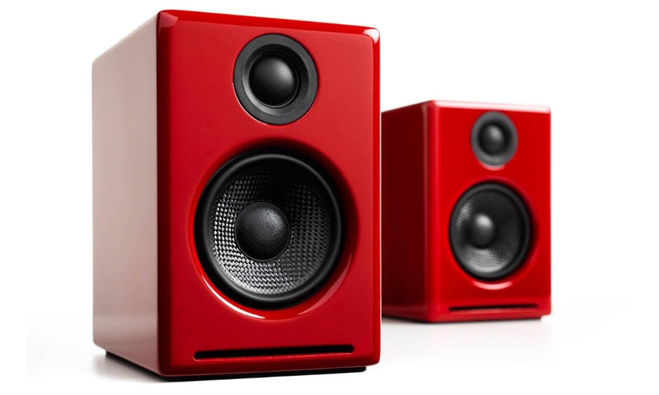 Bezprzewodowe głośniki podstawkowe Audioengine A2+ BT Czerwone