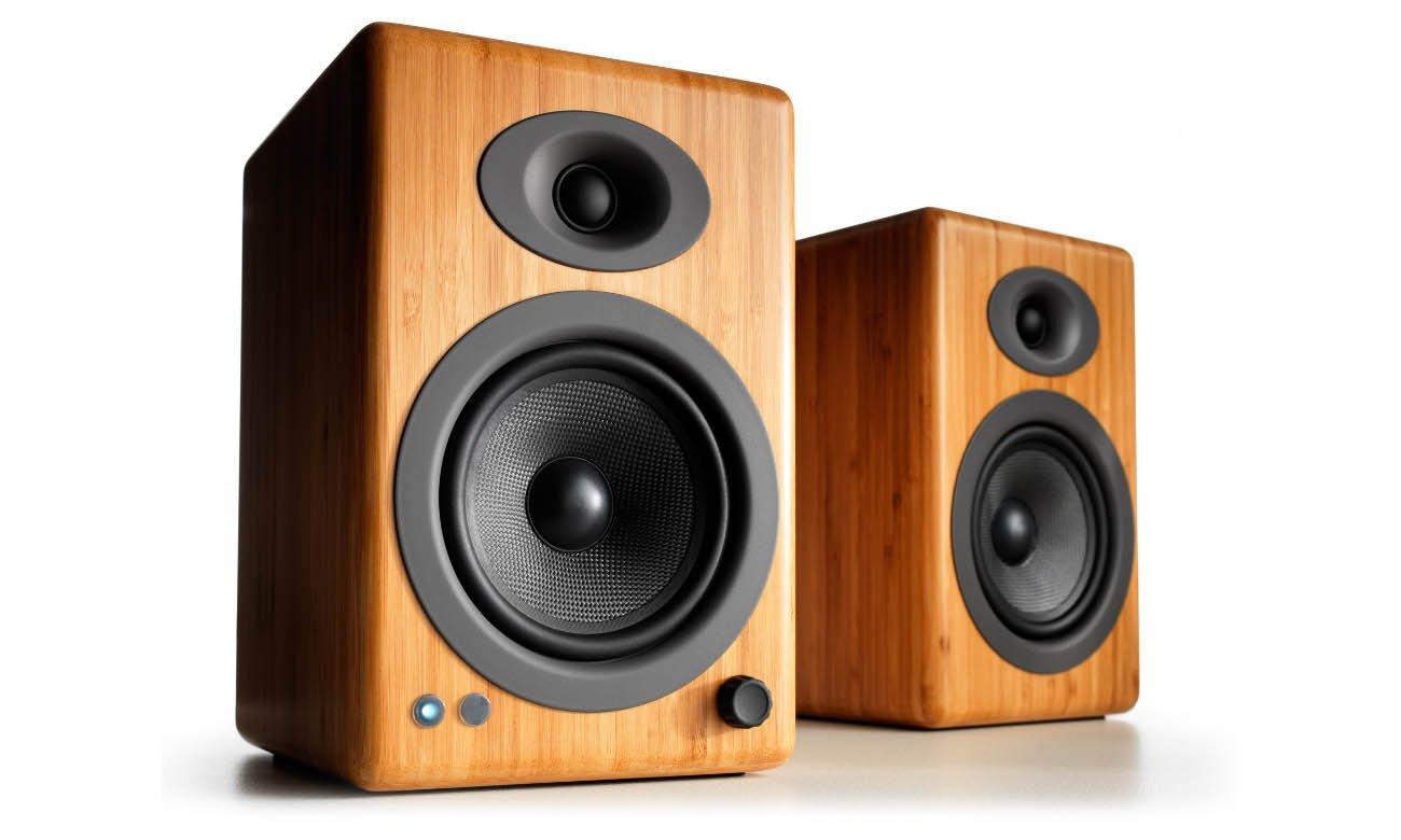 Bezprzewodowe Głośniki podstawkowe Audioengine A5+ BT Bambusowe