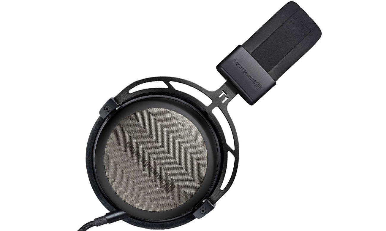Czarne włuchawki wokółuszne Beyerdynamic T1 drugiej generacji