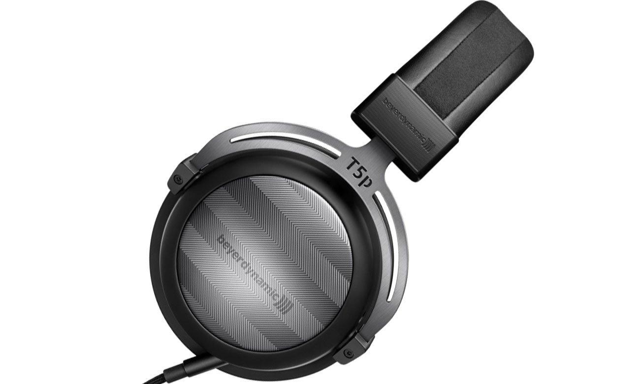 Czarne słuchawki wokółuszne Beyerdynamic T5p drugiej generacji
