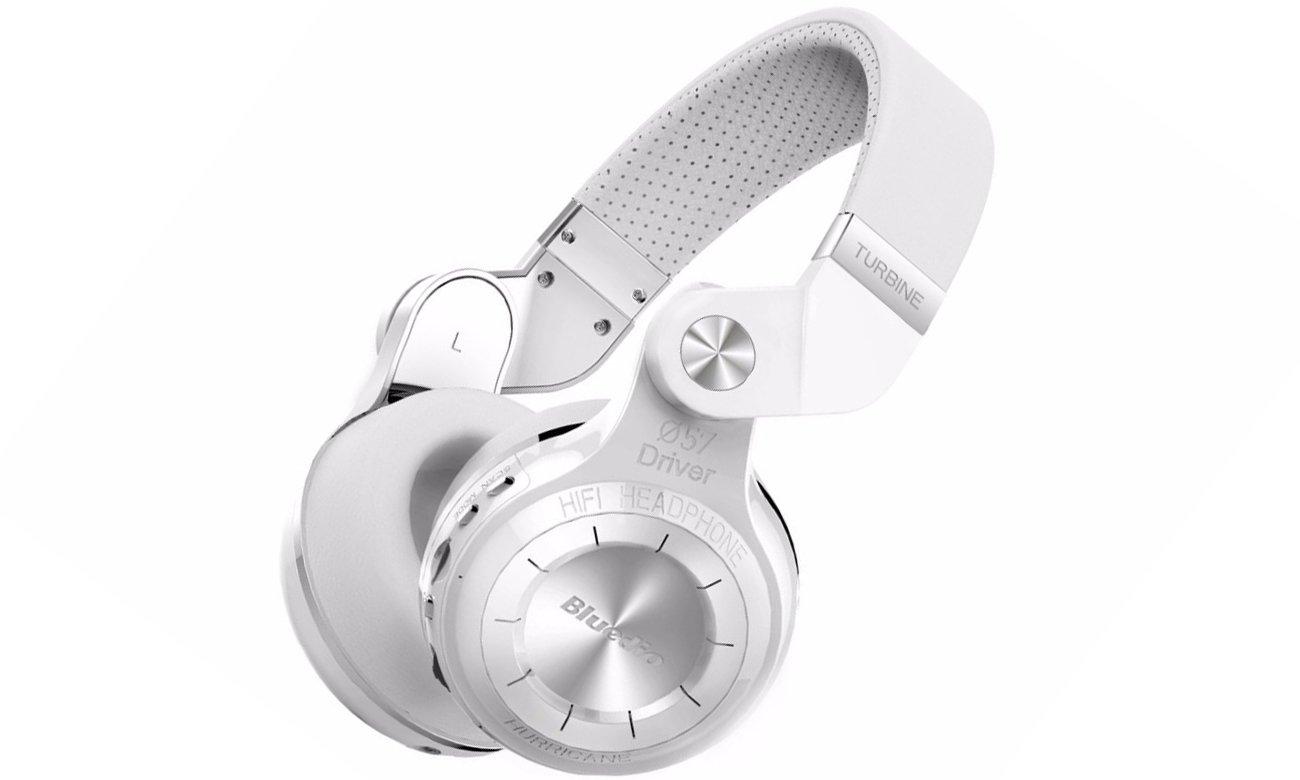 Słuchawki bezprzewodowe Bluedio T2+ Bluetooth białe