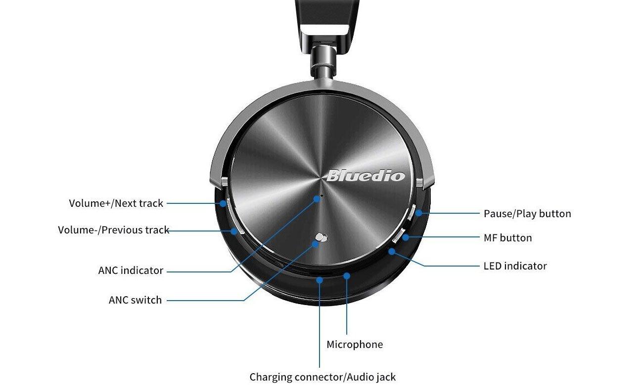Słuchawki bezprzewodowe Bluedio T4S Turbine