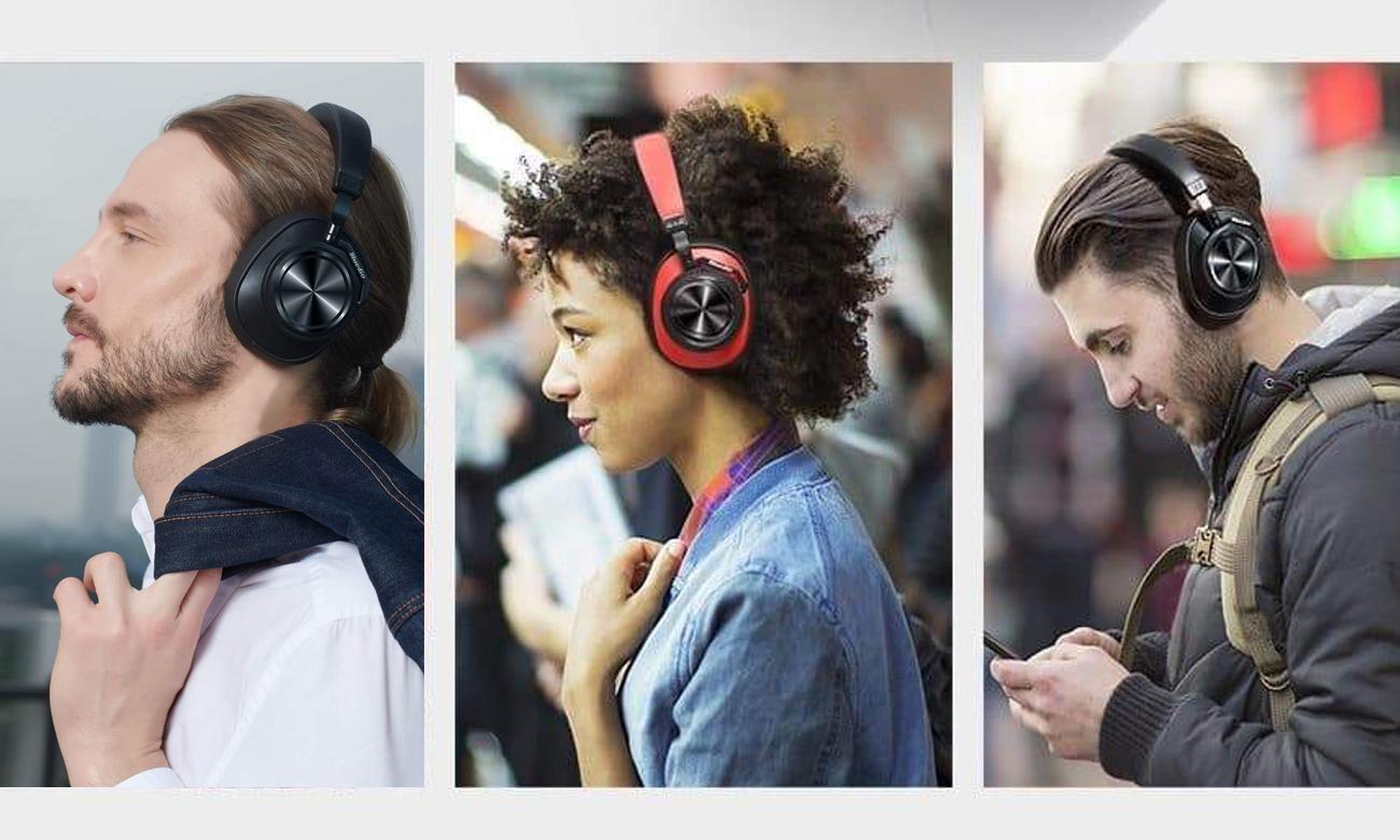 Słuchawki z aktywną redukcją szumów Bluedio T7 ANC