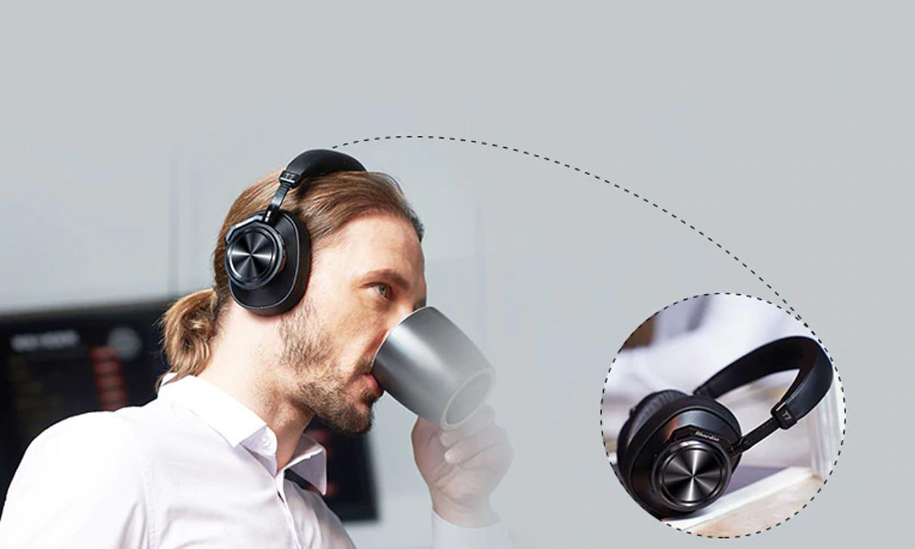 Bezprzewodowe słuchawki z czujnikiem AI Bluedio T7