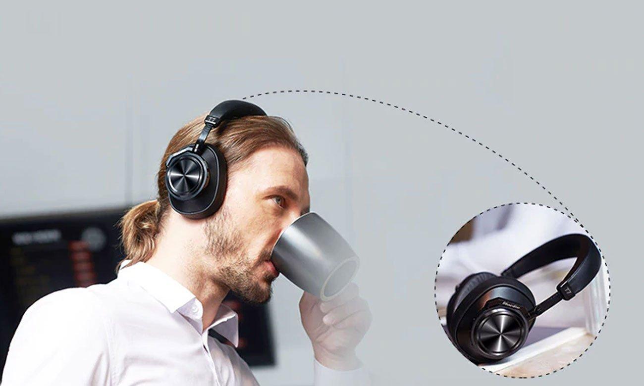 Bezprzewodowe słuchawki z czujnikiem AI Bluedio T7 Plus