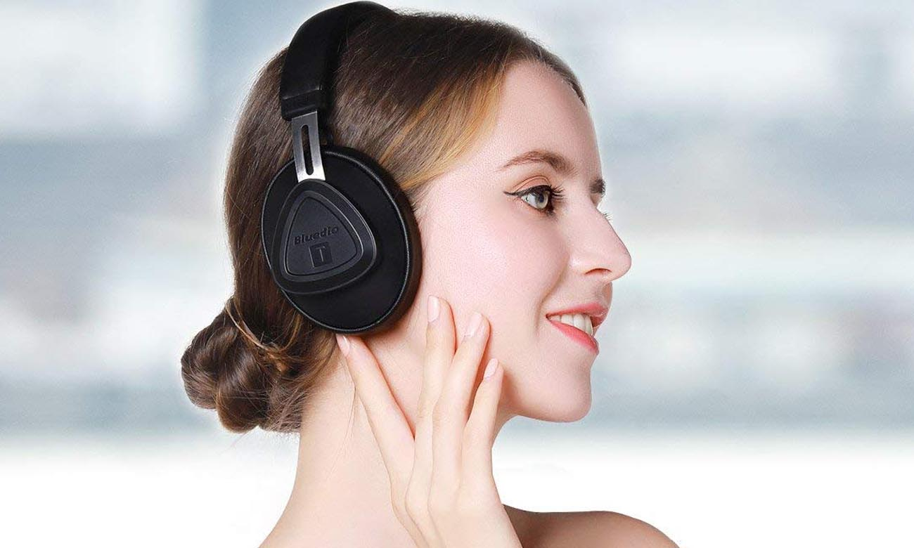 Komfortowe słuchawki Bluedio TM Black