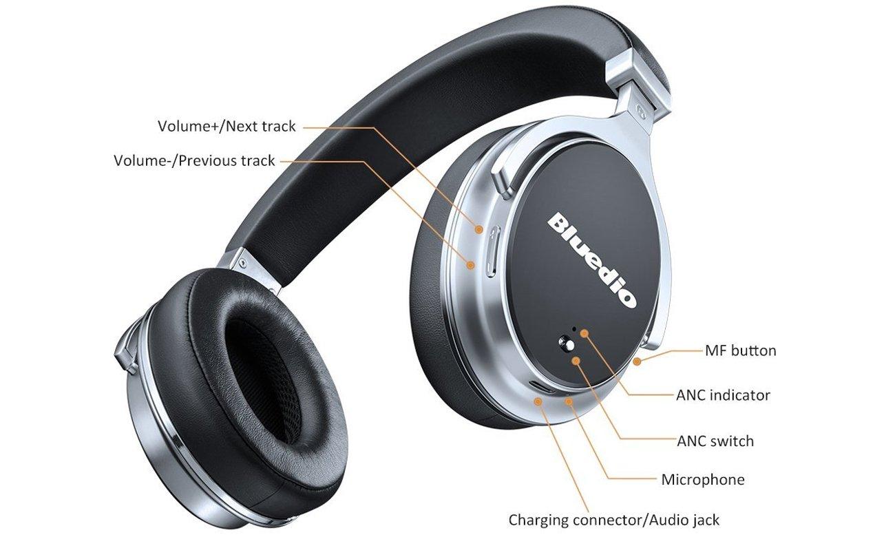 Słuchawki bezprzewodowe Bluedio F2 Bluetooth czarne