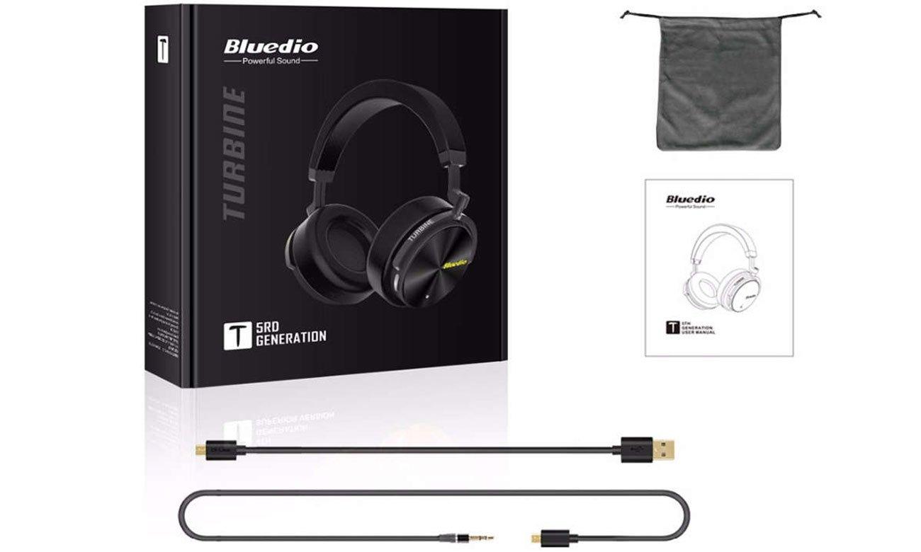 Słuchawki Bluetooth z wytrzymałą baterią Bluedio T5 Turbine
