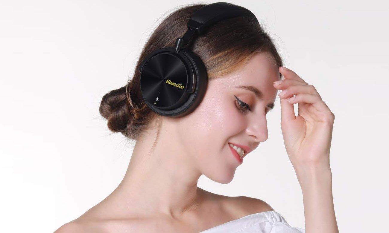 Słuchawki bezprzewodowe Bluedio T5S ANC czarne