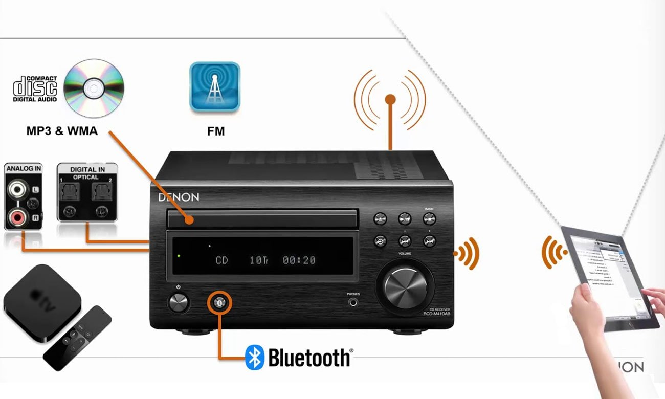 System audio Denon D-M41 z Bluetooth i CD