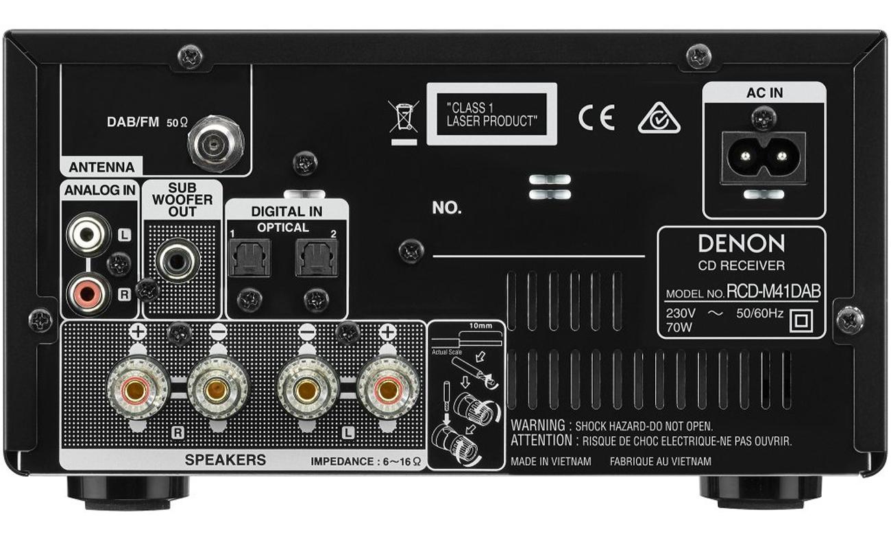 Radio DAB+ w mini wieży Denon D-M41