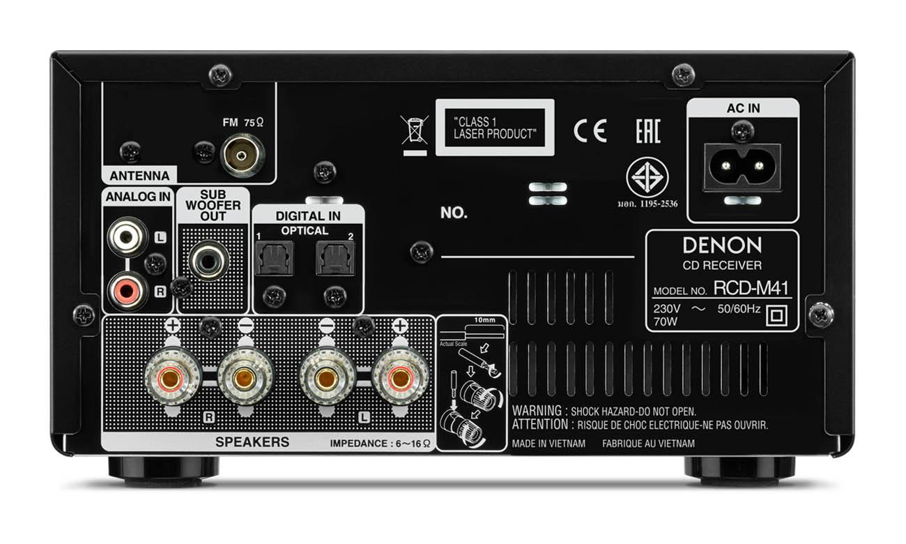 Mini-wieża Denon RCD-M41 Bluetooth CD FM