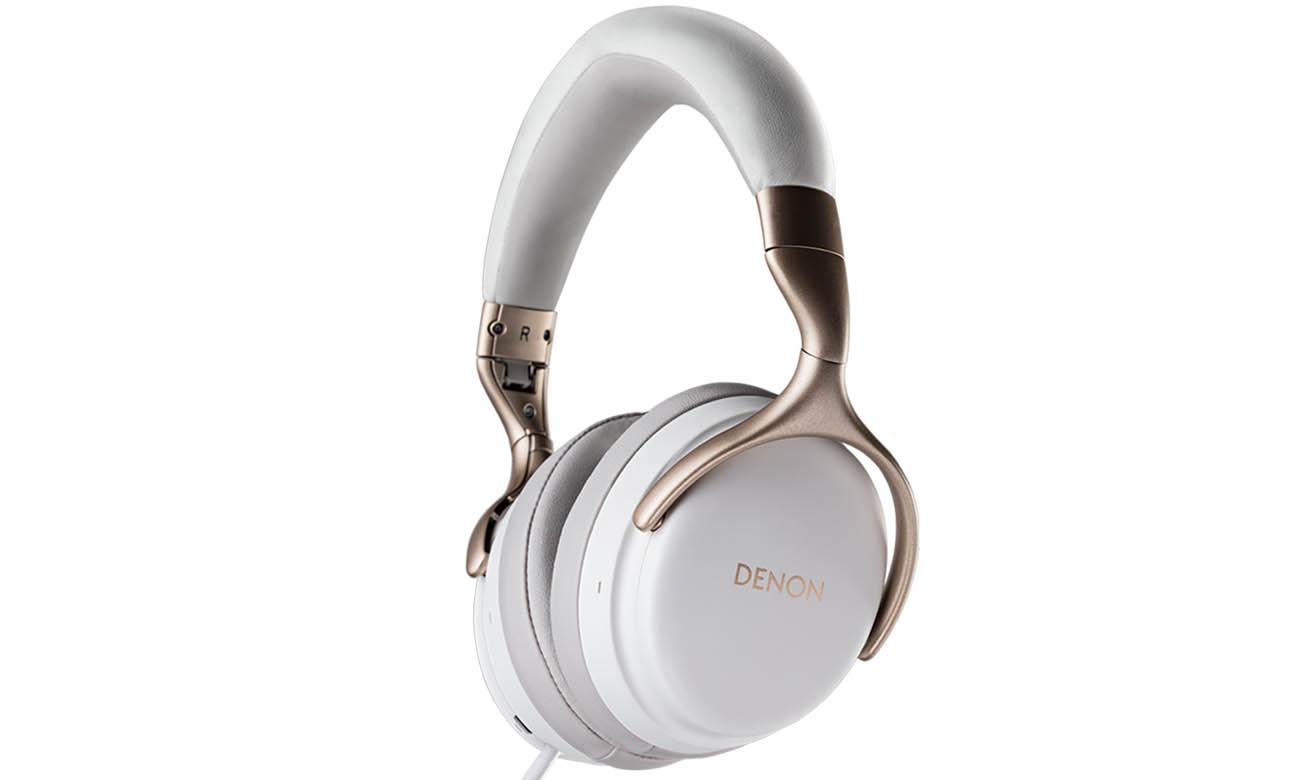 Słuchawki Denon AH-GC25NC ANC białe