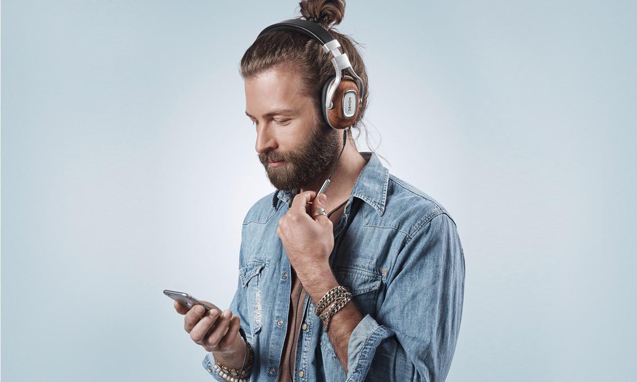 Luksusowe wykonanie słuchawek Denon AH-MM400
