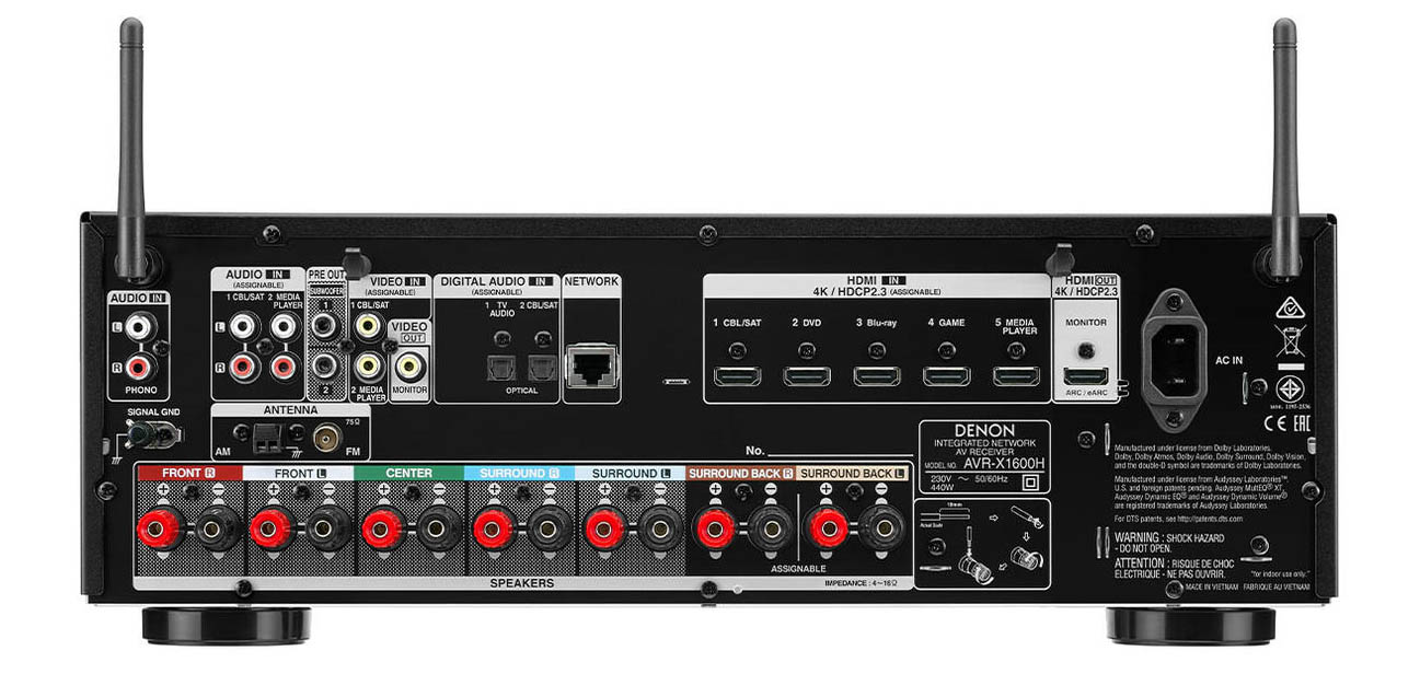 Amplituner Denon AVR-X1600H