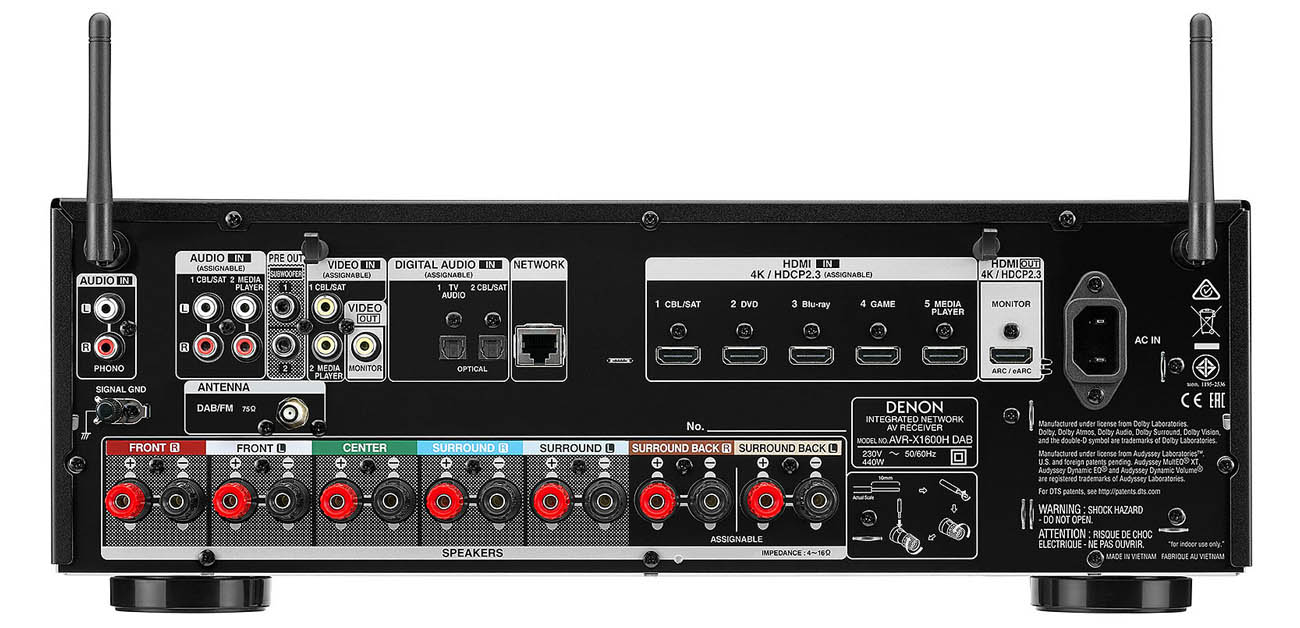 Amplituner Denon AVR-X1600H DAB