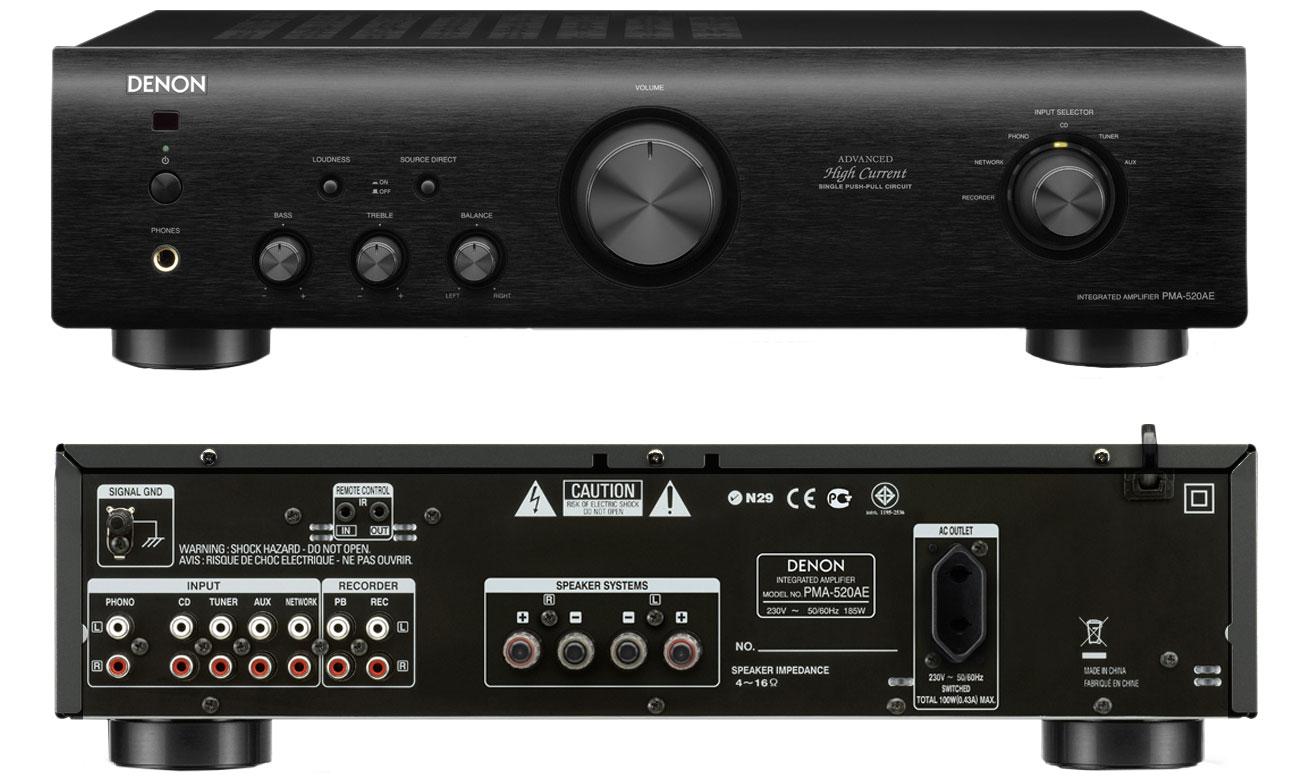Amplituner Denon Wzmacniacz PMA-520AE czarny
