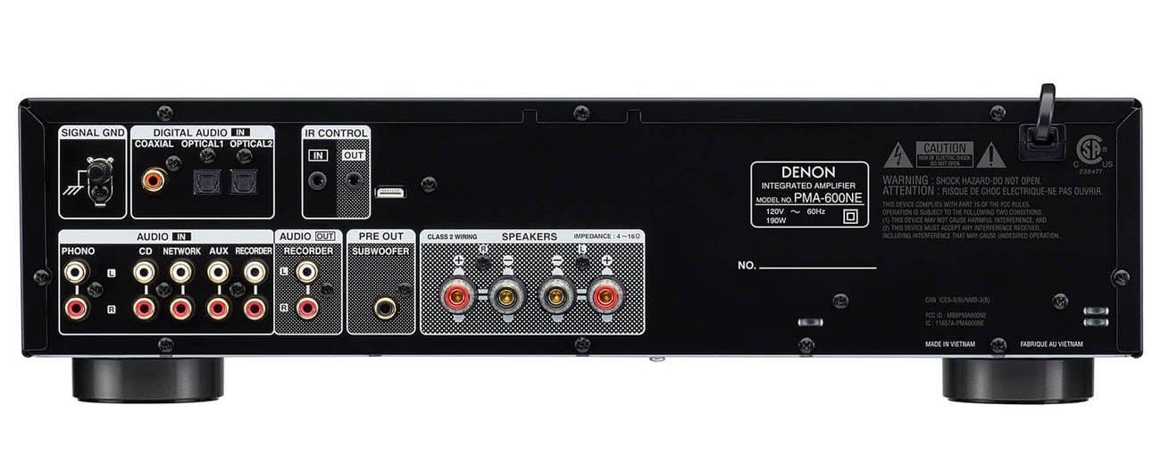 Kontrukcja odporna na wibracje Denon PMA-600NE