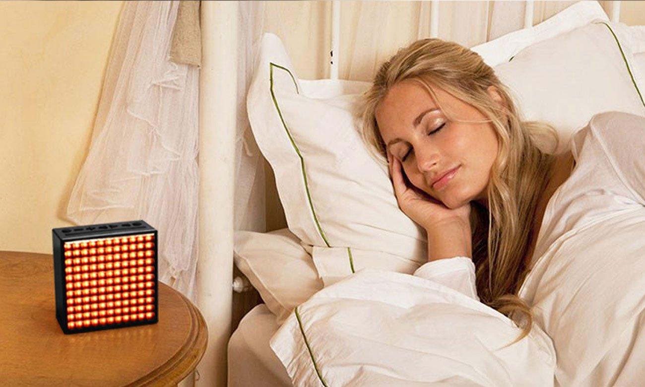 Głośnik z trybami usypiania i latarką Divoom TimeBox czerwony