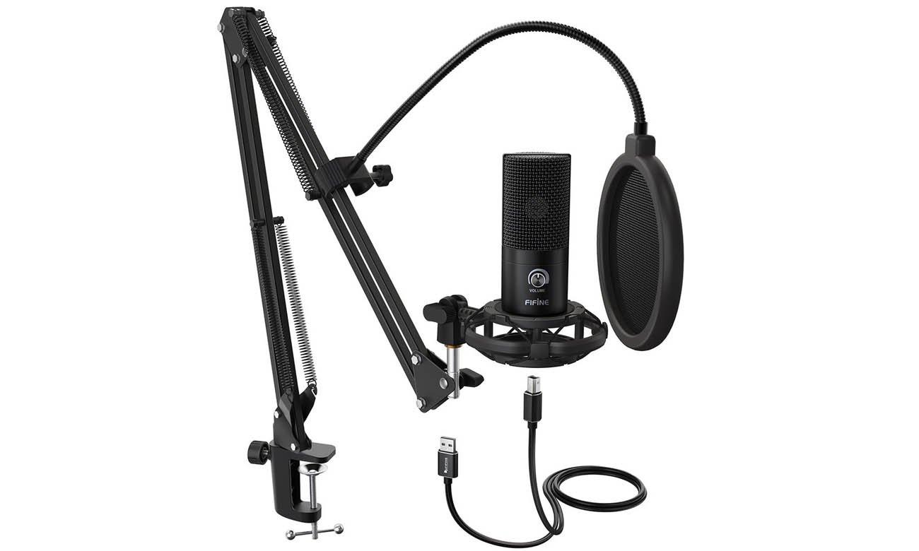 Zestaw Fifine T669 Mikrofon pojemnościowy Fifine K669B USB