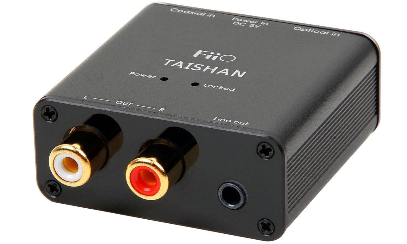 Złącza w konwerterze DAC D03K Taishan FiiO