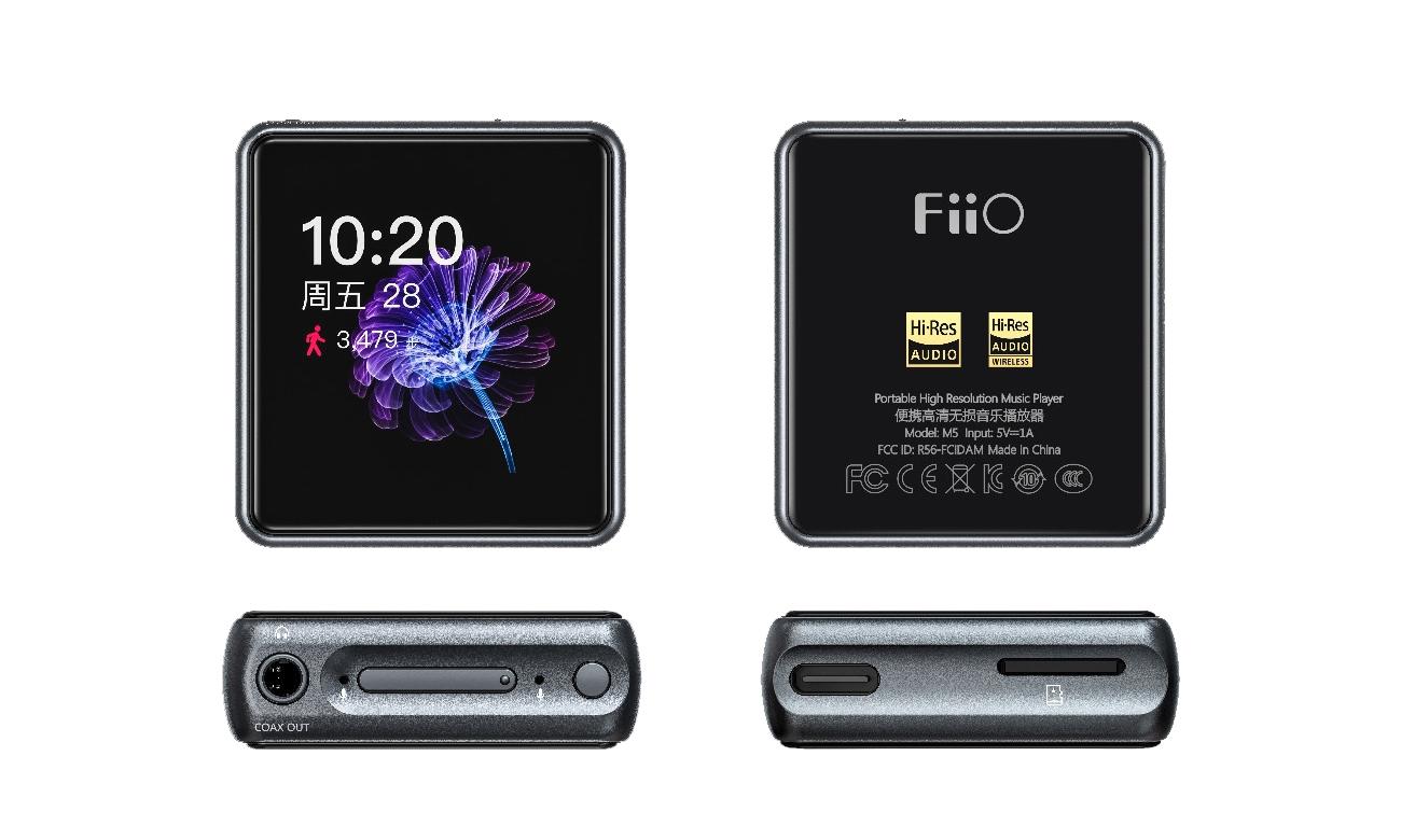 Wysokiej jakości odtwarzacz plików cyfrowych FiiO M5