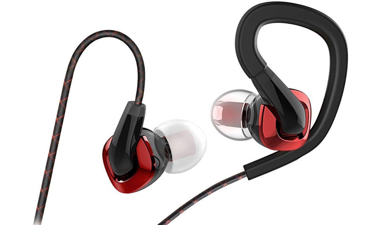 Ergonomiczny kształt słuchawek dokanałowych FiiO F3