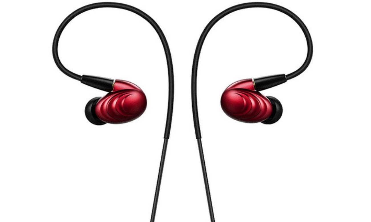 Słuchawki dokanałowe FiiO F9 RED czerwone idealnie dopasowane