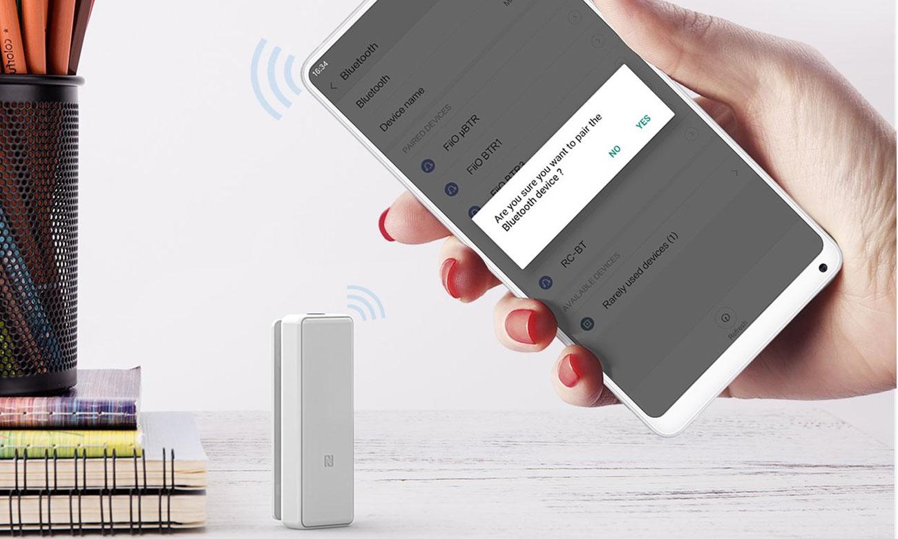 Wzmacniacz słuchawkowy FiiO μBTR biały