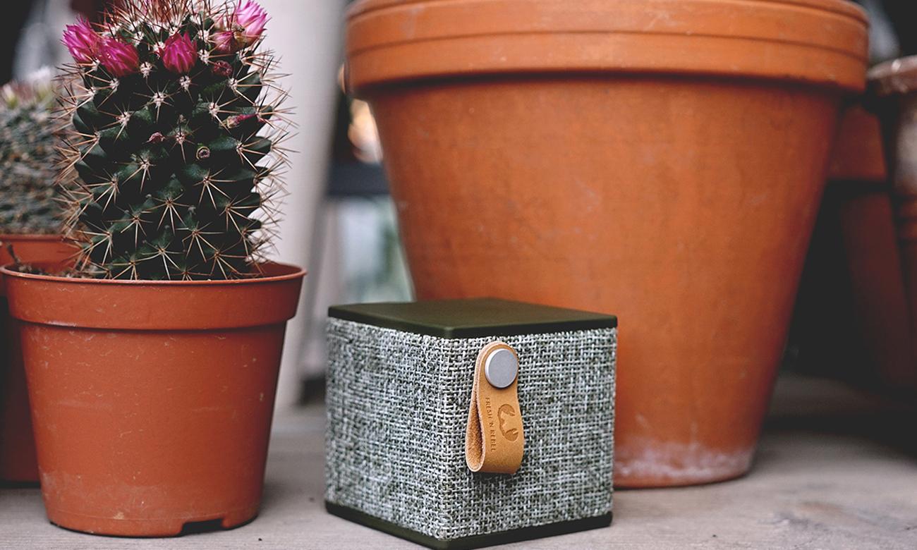 Głośnik bezprzewodowy Rockbox Cube Fabriq Edition zielony 1RB1000AR
