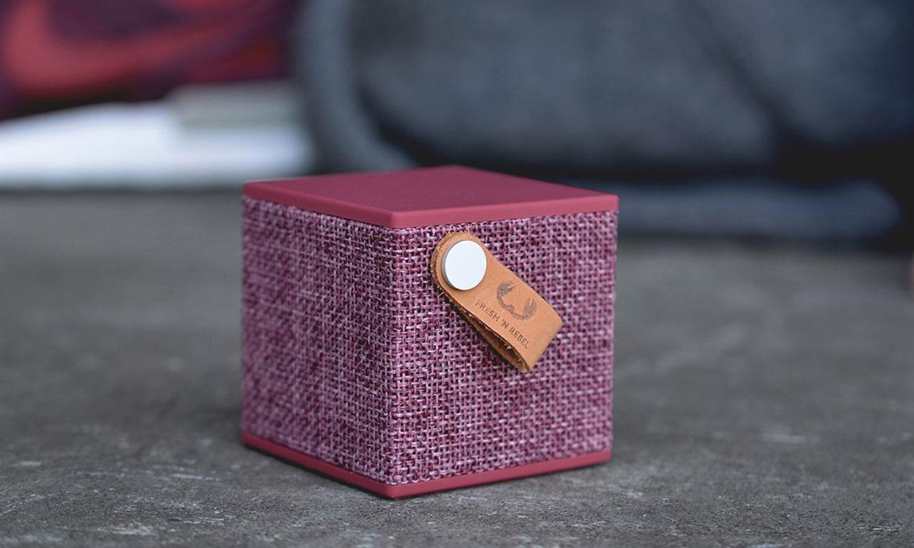 Głośnik bezprzewodowy Rockbox Cube Fabriq Edition buraczkowy 1RB1000RU