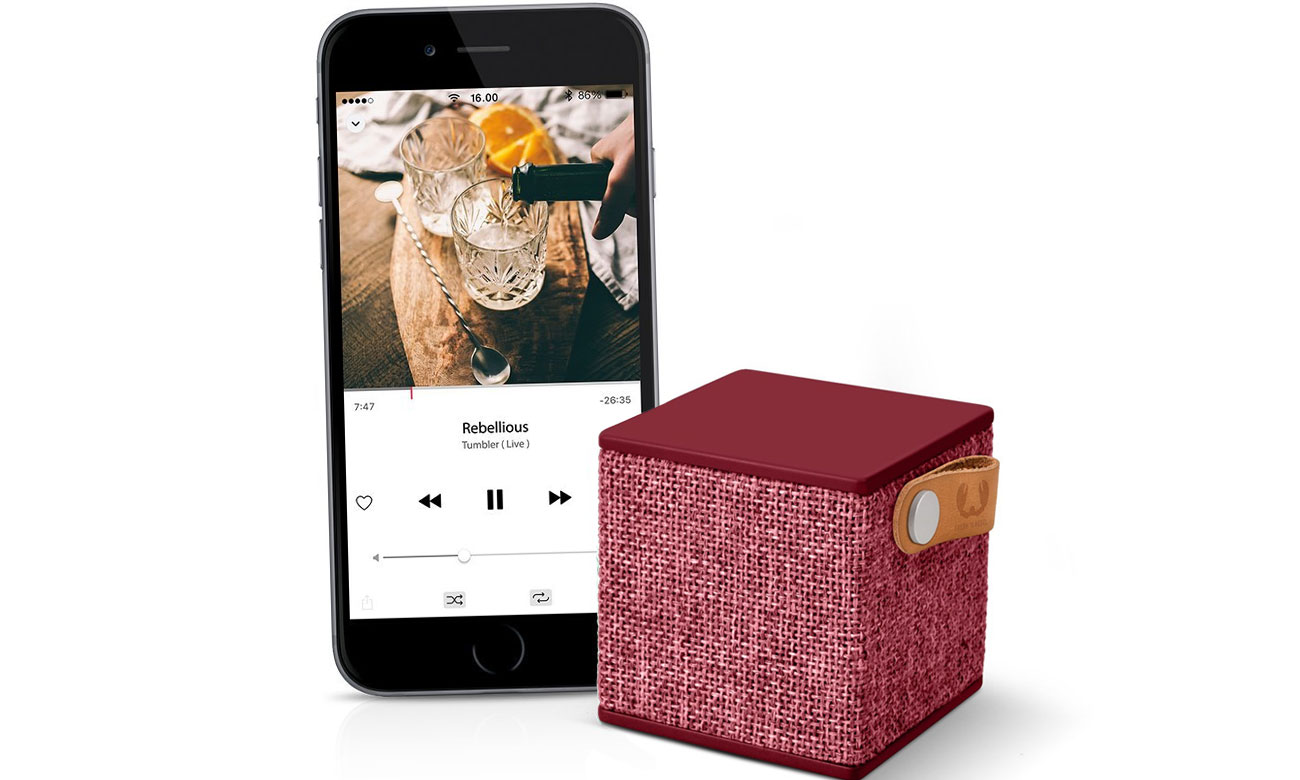 Głośnik Bluetooth Fresh N Rebel Ruby 1RB1000RU czerwony