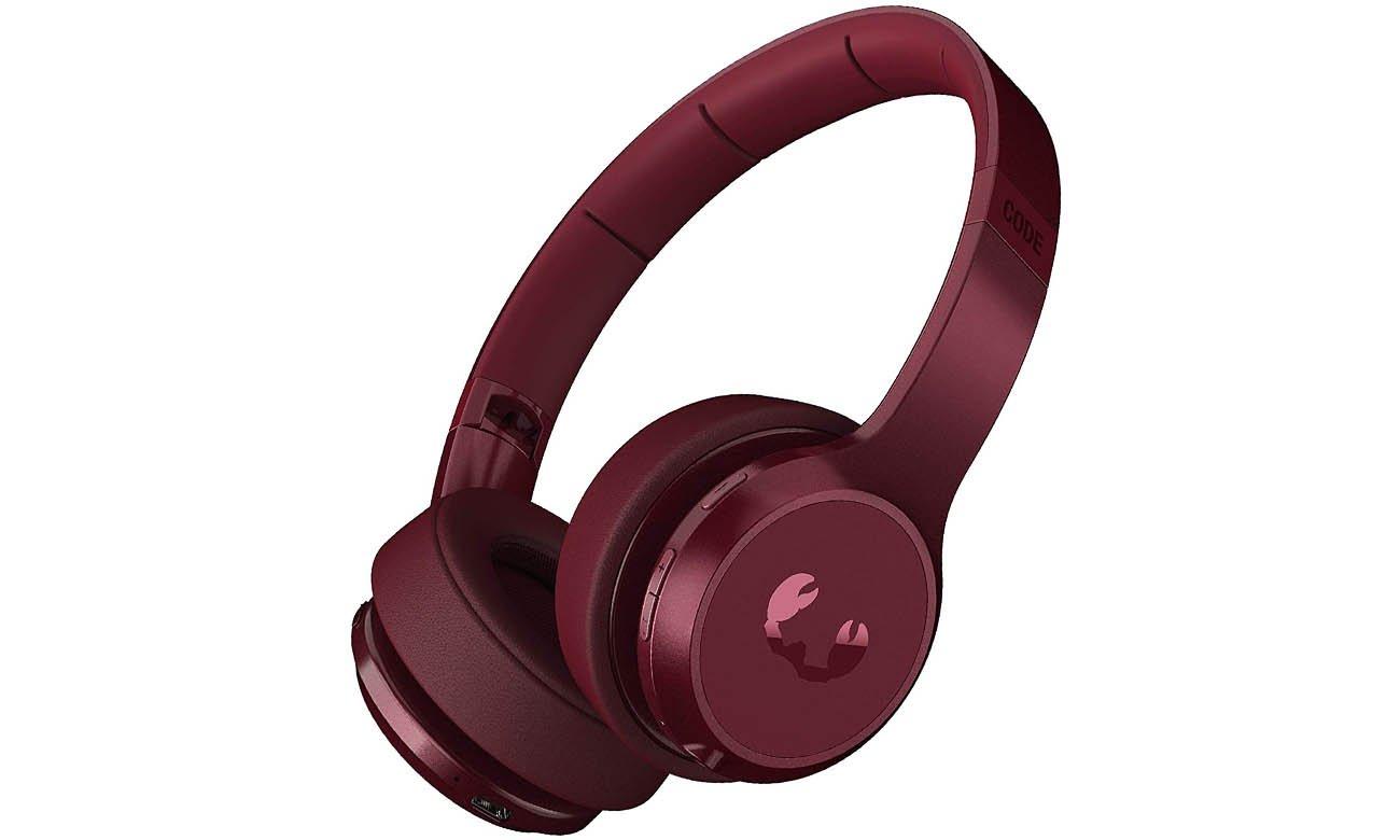 Bezprzewodowe słuchawki nauszne Fresh N Rebel Code ANC Ruby Red